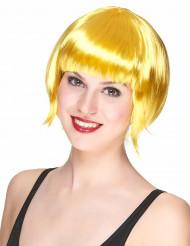 Parrucca caschetto giallo da donna