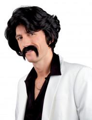 Parrucca nera con baffo da uomo