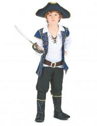 Costume da pirata blu da bambino