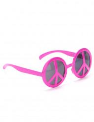 Occhiali hippie rosa per adulto