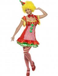 Costume pagliaccio colorato per donna