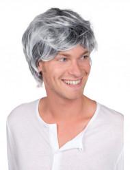 Parrucca brizzolata per uomo