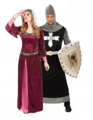 Costumi coppia dama e cavaliere medievale