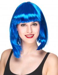 Parrucca media lunghezza blu da donna