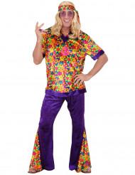 Costume da hippie floreale uomo