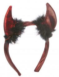 Cerchietto con corna da diavolo donna Halloween