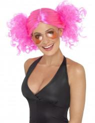 Parrucca rosa fluo da donna
