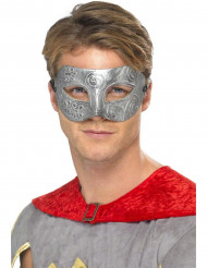 Maschera argentata da colombina per adulto