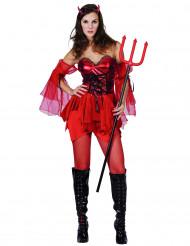 Costume corto diavolessa per donna