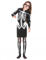 Costume scheletro per bambina Halloween