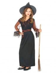 Costume nero da strega per bambina