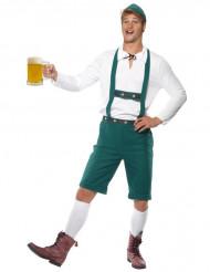 Costume da bavarese verde per uomo