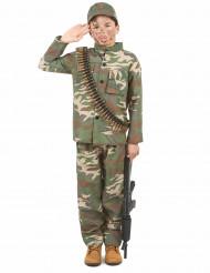 Travestimento da militare bambino
