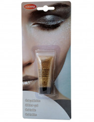 Gel trucco con paillettes dorate