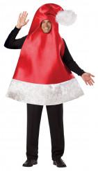 Costume da cappello di babbo Natale per adulto