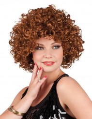 Parrucca marrone riccia da donna