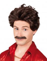 Parrucca con baffi da uomo