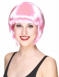Parrucca corta rosa da donna