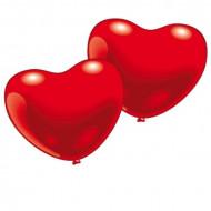 10 palloncini a forma di cuore