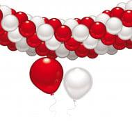 Set di decorazioni con palloncini bianchi e rossi