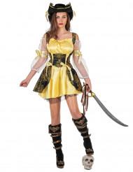 Costume da pirata giallo da donna