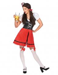 Costume da bavarese rosso