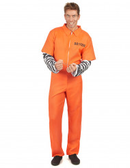 Costume prigioniero arancione per adulto