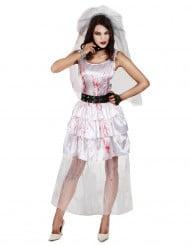 Costume da sposa zombie di Halloween per donna 12e6863a241