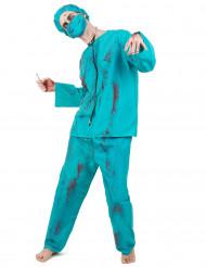 Costume chirurgo zombie Halloween per uomo