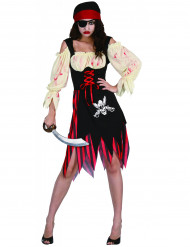 Costume pirata insanguinato donna