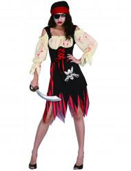 Costume pirata insanguinato donna