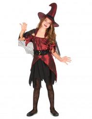 Costume da strega per ragazza ad Halloween