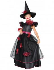 Costume da strega chic con rose per bambina