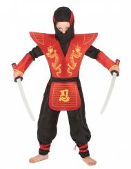 Costume ninja rosso con drago per bambino