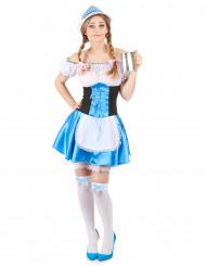 Costume bavarese azzurro da donna
