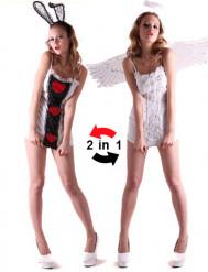 Costume reversibile angelo e coniglietta donna