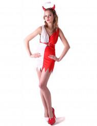 Costume corto da diavolessa per donna