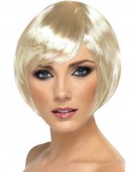 Parrucca corta da cabaret bionda da donna