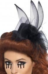 Mini cappello nero da vedova