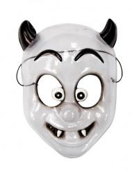 Maschera bianca da demone per bambini