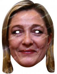 Maschera di cartone di Marine Le Pen