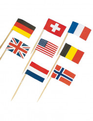 30 mini bandierine nazioni