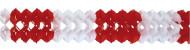 Ghirlanda in carta rossa e bianca