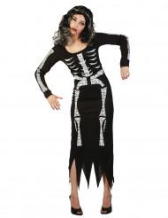 Costume per donna da scheletro