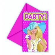 6 biglietti per inviti di Barbie Dollicious™