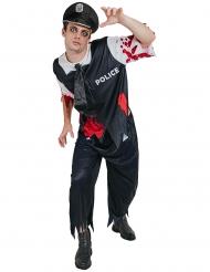 Costume da poliziotto zombie per uomo