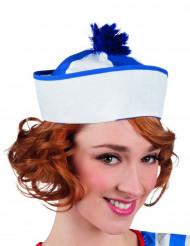 Cappello da marinaio con pon pon per adulto