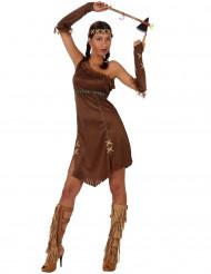 Costume per donna da pellerossa