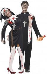 Costumi per Halloween da prete e suora