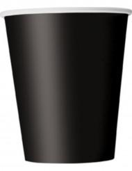 8 bicchieri di carta colore nero